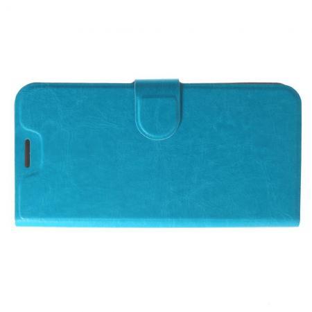 Флип чехол книжка с кошельком подставкой отделениями для карт и магнитной застежкой для Asus Zenfone Max Pro M1 ZB602KL Голубой