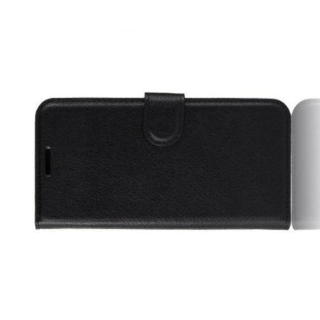 Флип чехол книжка с кошельком подставкой отделениями для карт и магнитной застежкой для Huawei Honor 20 Черный
