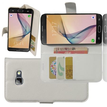 Флип чехол книжка с кошельком подставкой отделениями для карт и магнитной застежкой для Samsung Galaxy A5 2017 SM-A520F Белый