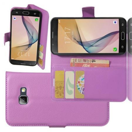 Флип чехол книжка с кошельком подставкой отделениями для карт и магнитной застежкой для Samsung Galaxy A5 2017 SM-A520F Фиолетовый