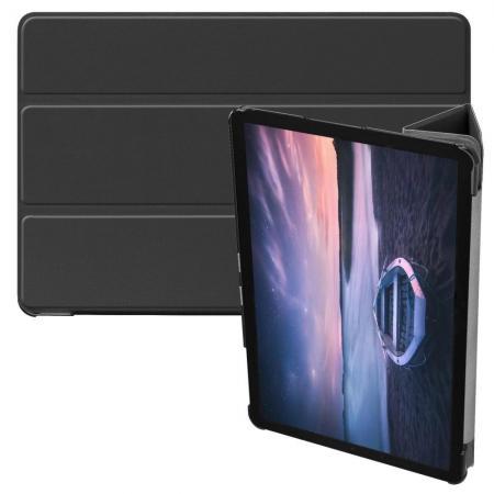 Флип чехол книжка с подставкой для Samsung Galaxy Tab S4 10.5 SM-T830 SM-T835 Черный