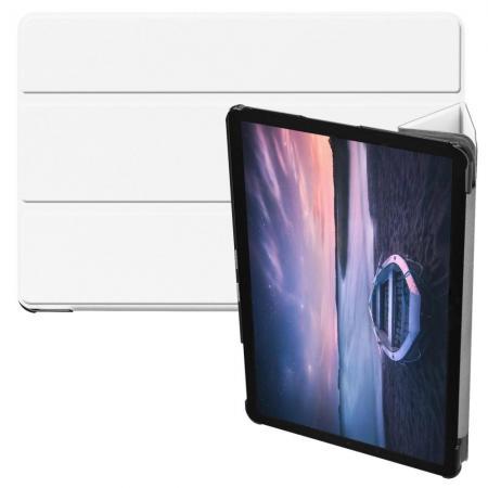 Флип чехол книжка с подставкой для Samsung Galaxy Tab S4 10.5 SM-T830 SM-T835 Белый