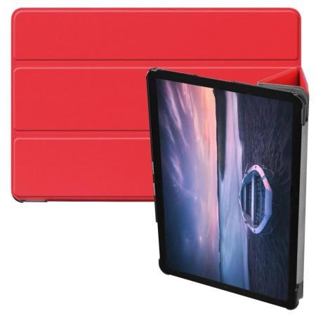 Флип чехол книжка с подставкой для Samsung Galaxy Tab S4 10.5 SM-T830 SM-T835 Красный