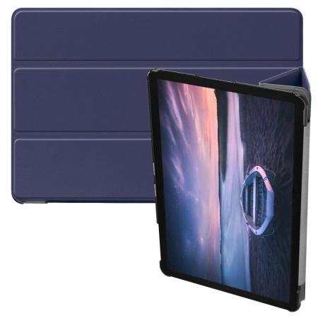 Флип чехол книжка с подставкой для Samsung Galaxy Tab S4 10.5 SM-T830 SM-T835 Синий