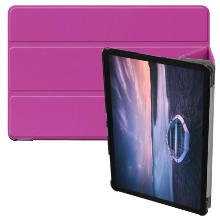 Флип чехол книжка с подставкой для Samsung Galaxy Tab S4 10.5 SM-T830 SM-T835 Фиолетовый