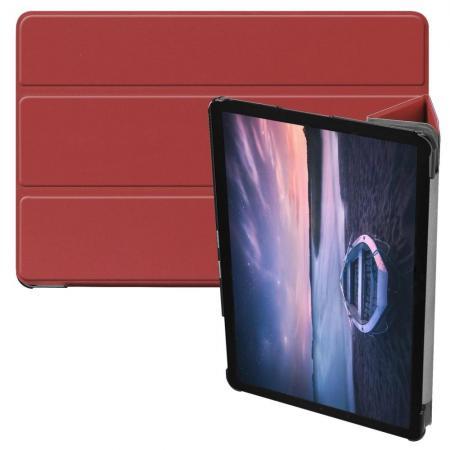 Флип чехол книжка с подставкой для Samsung Galaxy Tab S4 10.5 SM-T830 SM-T835 Коричневый