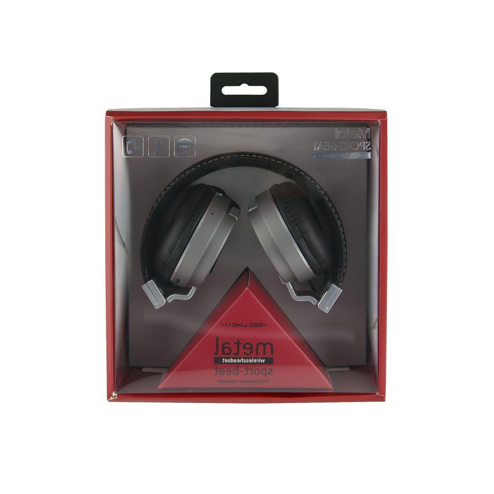 Беспроводные Bluetooth наушники с микрофоном BHS-04 Red Line