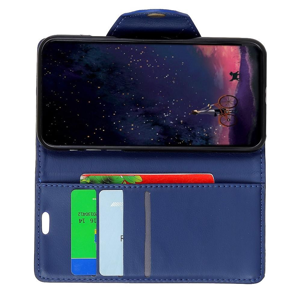 Боковая Чехол Книжка Кошелек с Футляром для Карт и Застежкой Магнитом для Huawei Honor 8X Синий