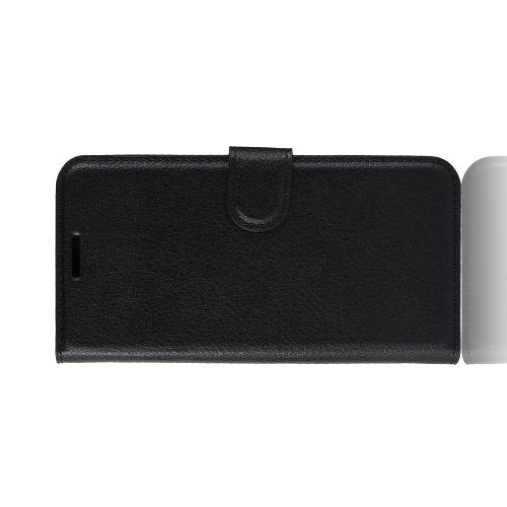 Боковая Чехол Книжка Кошелек с Футляром для Карт и Застежкой Магнитом для Huawei Honor 8X Черный