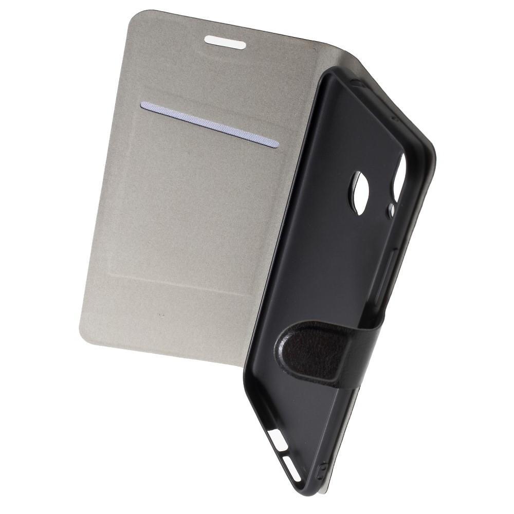 Боковая Чехол Книжка Кошелек с Футляром для Карт и Застежкой Магнитом для Huawei Honor Play Черный