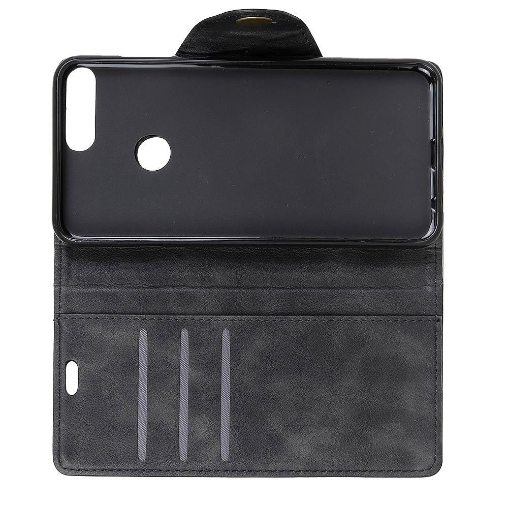 Боковая Чехол Книжка Кошелек с Футляром для Карт и Застежкой Магнитом для Huawei Honor View 20 (V20) Черный