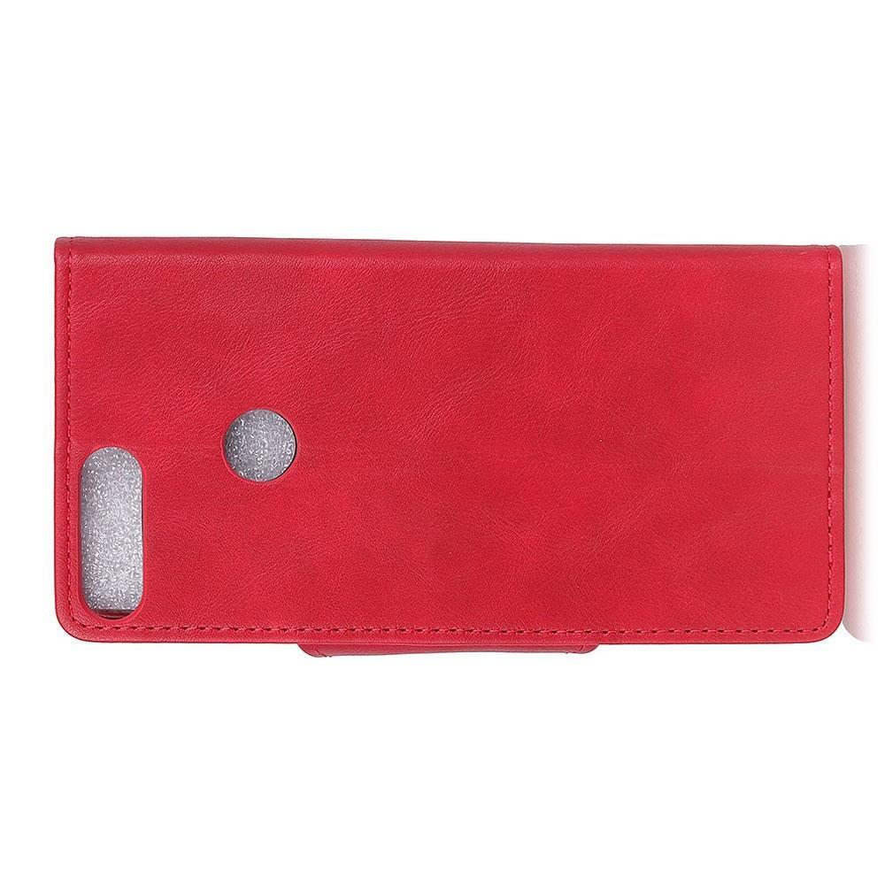 Боковая Чехол Книжка Кошелек с Футляром для Карт и Застежкой Магнитом для Huawei Honor View 20 (V20) Красный