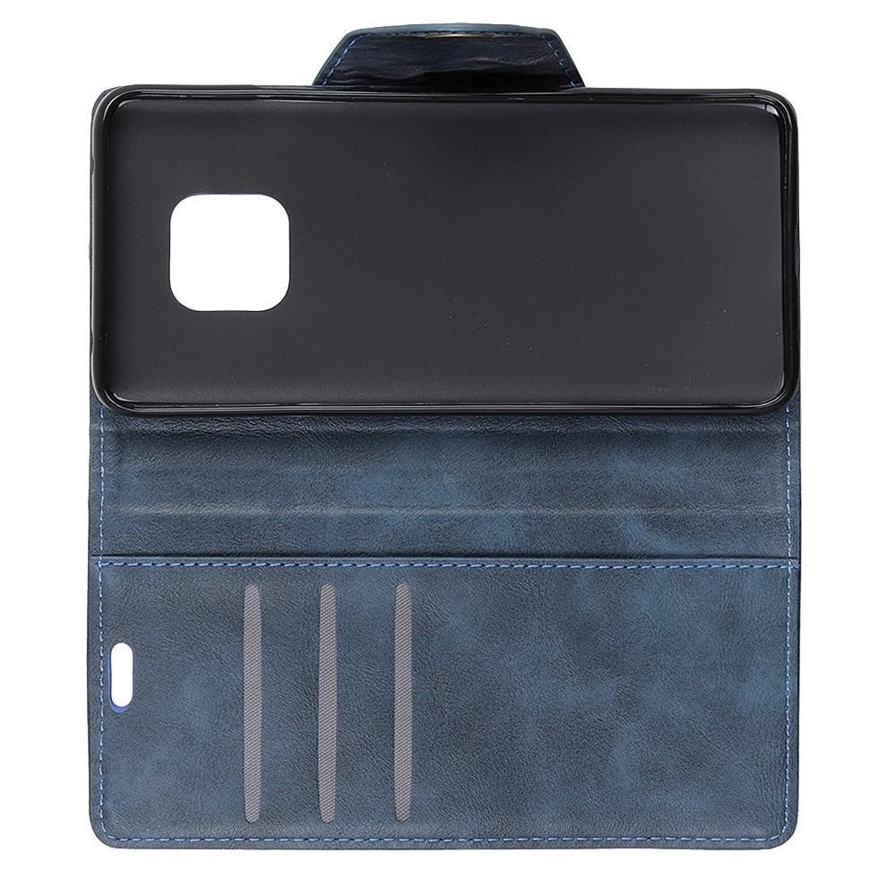 Боковая Чехол Книжка Кошелек с Футляром для Карт и Застежкой Магнитом для Huawei Mate 20 Pro Синий