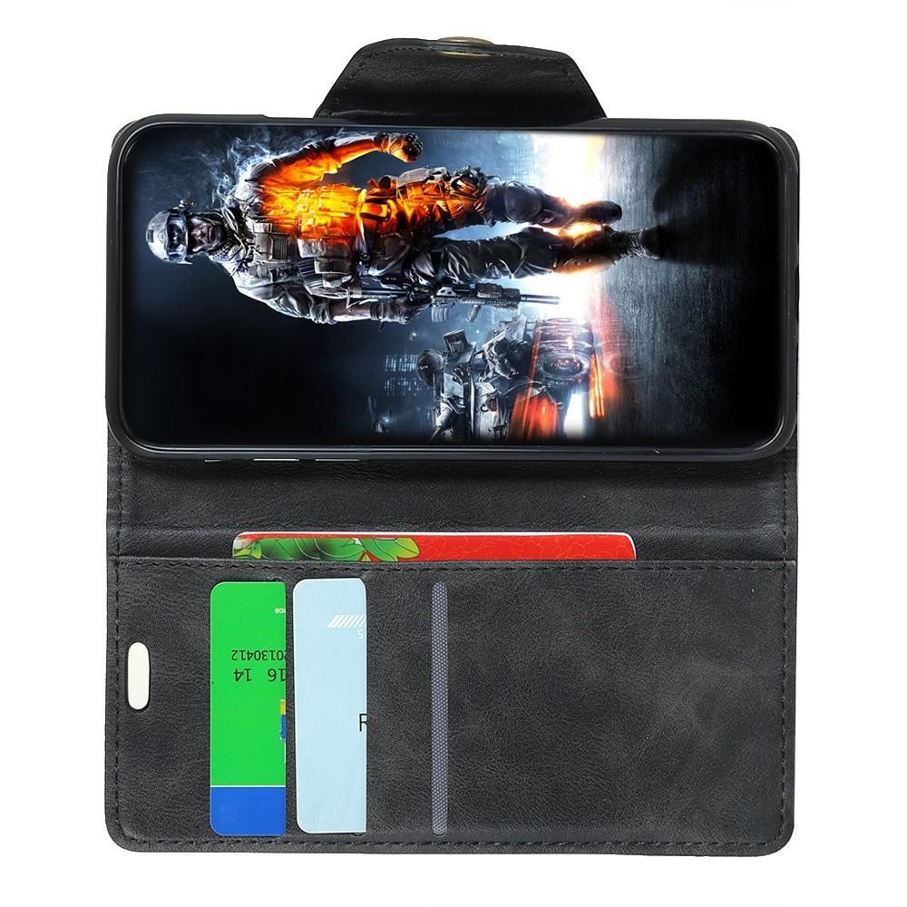 Боковая Чехол Книжка Кошелек с Футляром для Карт и Застежкой Магнитом для Huawei Nova 4 Черный