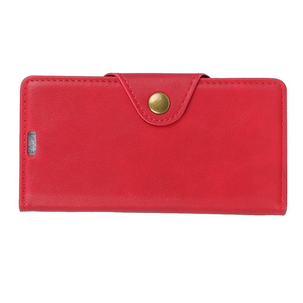 Боковая Чехол Книжка Кошелек с Футляром для Карт и Застежкой Магнитом для Huawei Nova 4 Красный