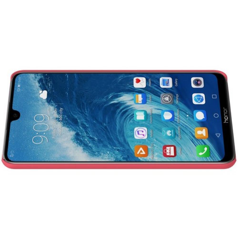 Пластиковый нескользящий NILLKIN Frosted кейс чехол для Huawei Honor 8X Max Красный + защитная пленка