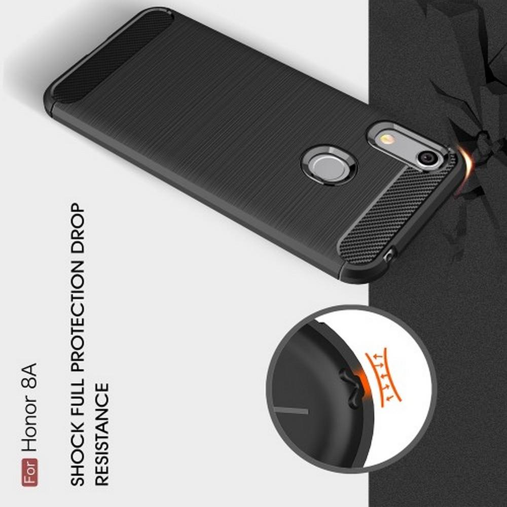 Carbon Fibre Силиконовый матовый бампер чехол для Huawei Honor 8A Коралловый