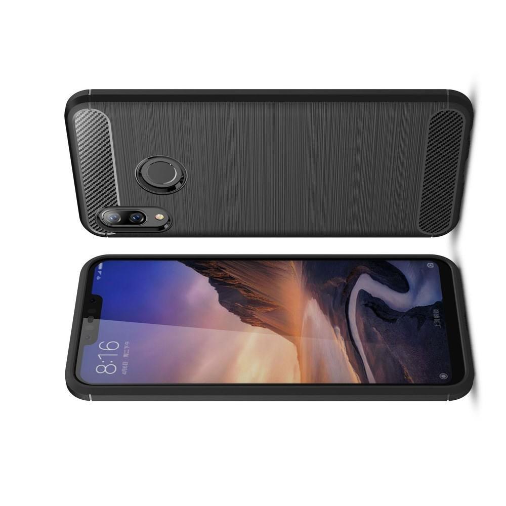 Carbon Fibre Силиконовый матовый бампер чехол для Huawei nova 3 Черный