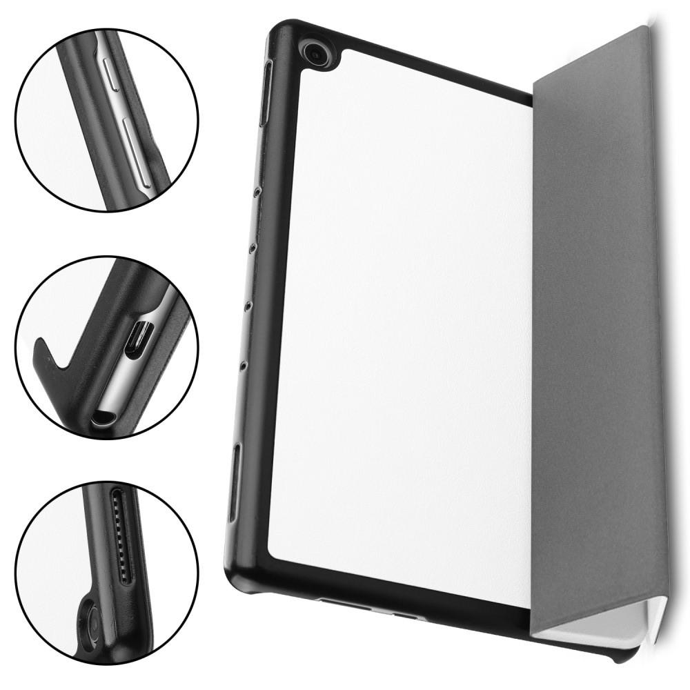 Двухсторонний Чехол Книжка для планшета Huawei Mediapad M5 Lite 10 Искусственно Кожаный с Подставкой Белый