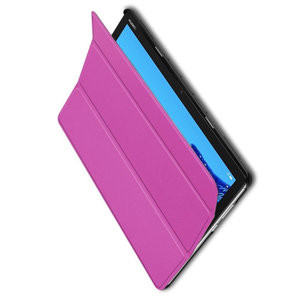 Двухсторонний Чехол Книжка для планшета Huawei Mediapad M5 Lite 10 Искусственно Кожаный с Подставкой Фиолетовый