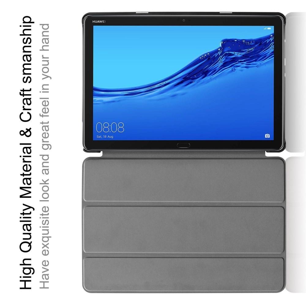 Двухсторонний Чехол Книжка для планшета Huawei Mediapad M5 Lite 10 Искусственно Кожаный с Подставкой Коричневый