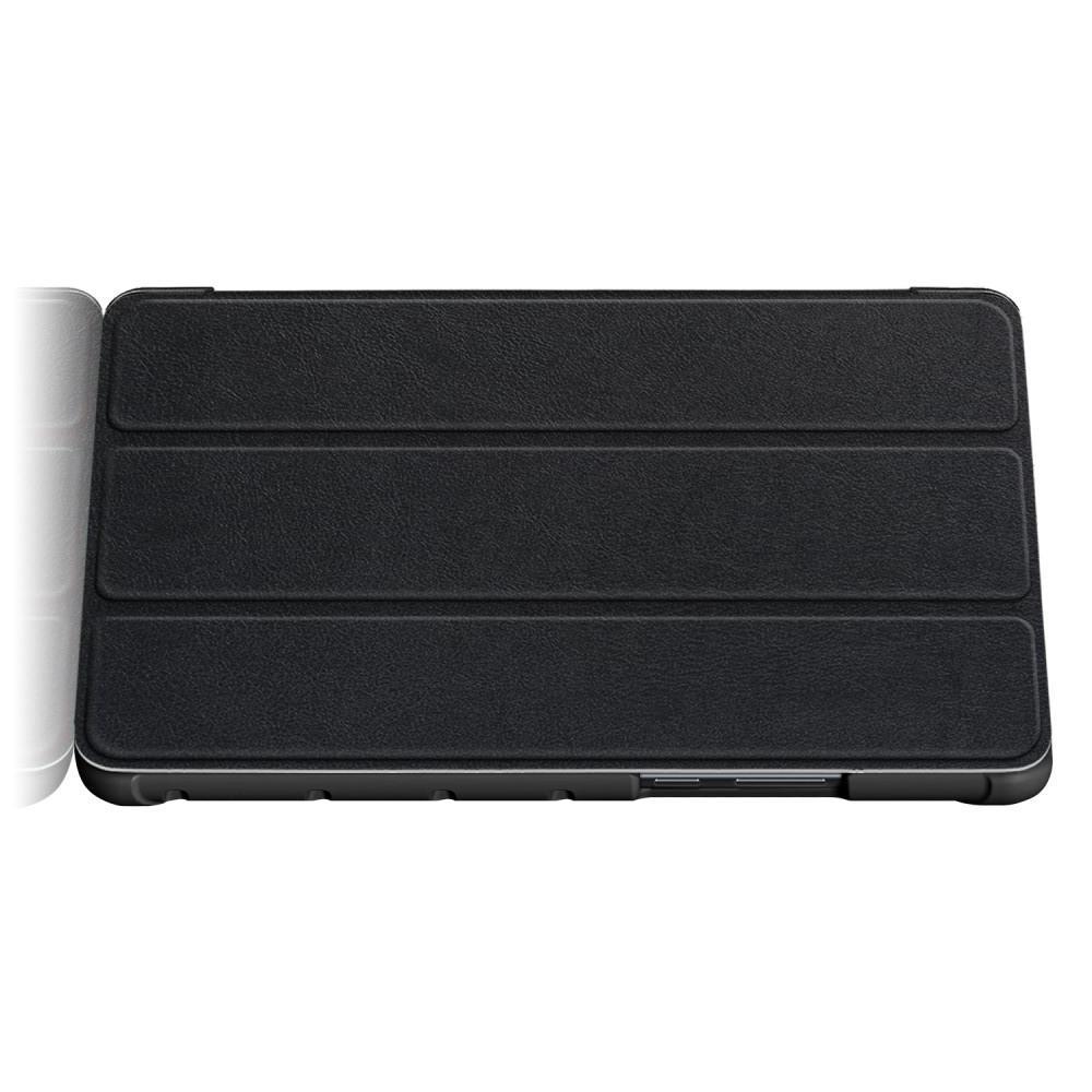 Двухсторонний Чехол Книжка для планшета Huawei MediaPad M5 Lite 8 Искусственно Кожаный с Подставкой Черный