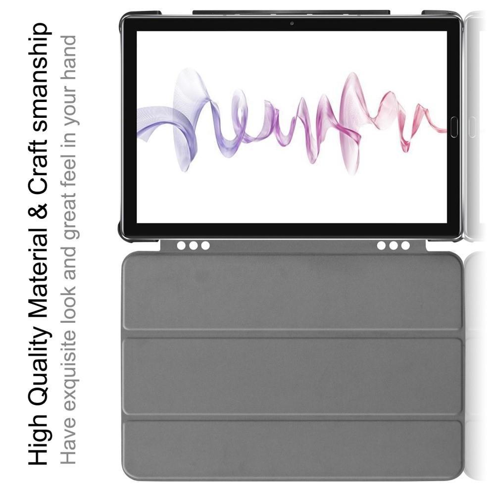 Двухсторонний Чехол Книжка для планшета Huawei MediaPad M6 10.8 Искусственно Кожаный с Подставкой Голубой