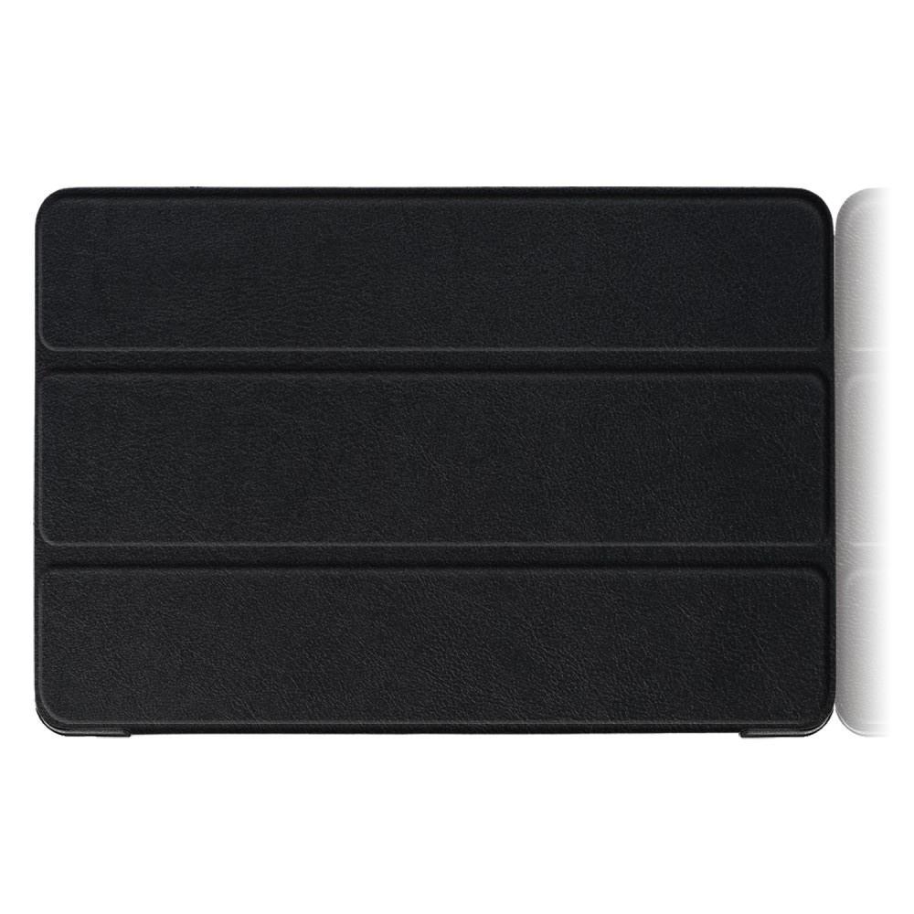 Двухсторонний Чехол Книжка для планшета Huawei Mediapad T5 10 Искусственно Кожаный с Подставкой Черный