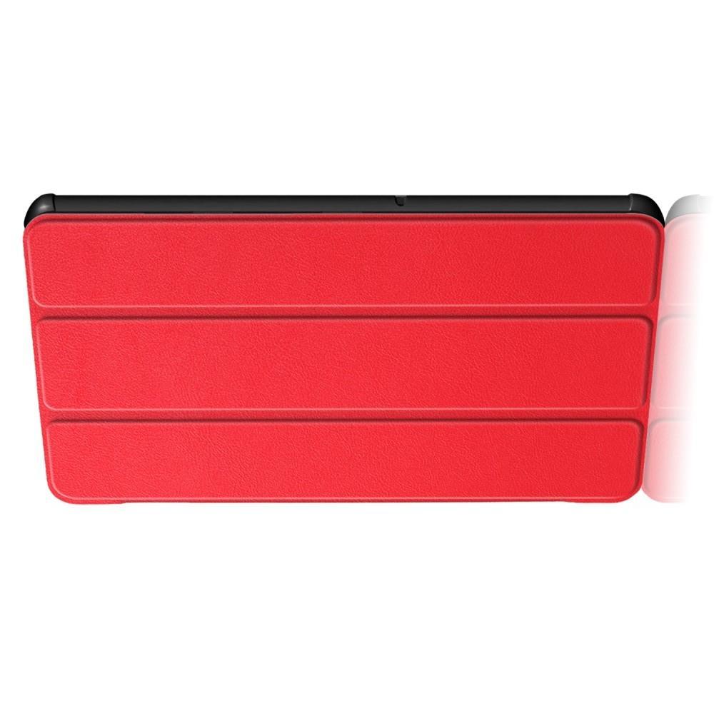 Двухсторонний Чехол Книжка для планшета Huawei Mediapad T5 10 Искусственно Кожаный с Подставкой Красный