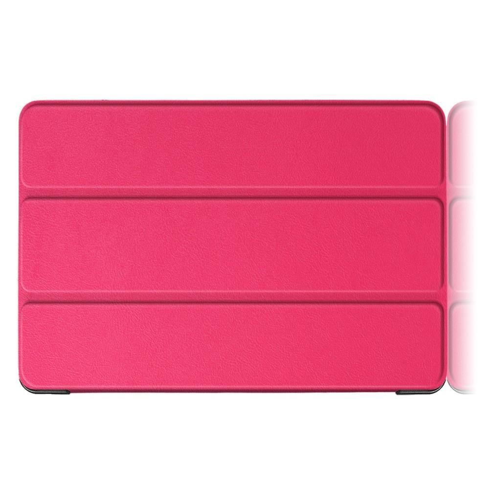 Двухсторонний Чехол Книжка для планшета Huawei Mediapad T5 10 Искусственно Кожаный с Подставкой Розовый