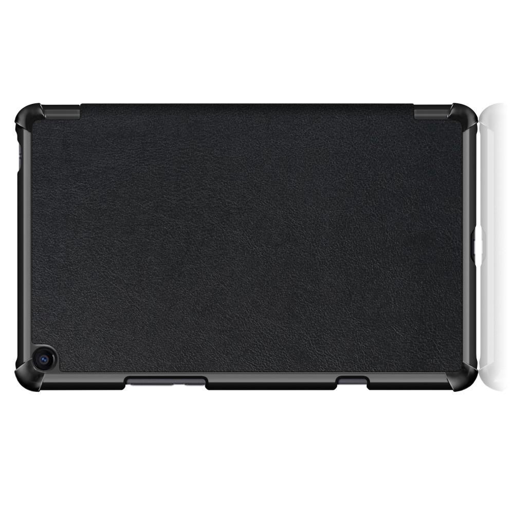 Двухсторонний Чехол Книжка для планшета Xiaomi Mi Pad 4 Plus Искусственно Кожаный с Подставкой Черный