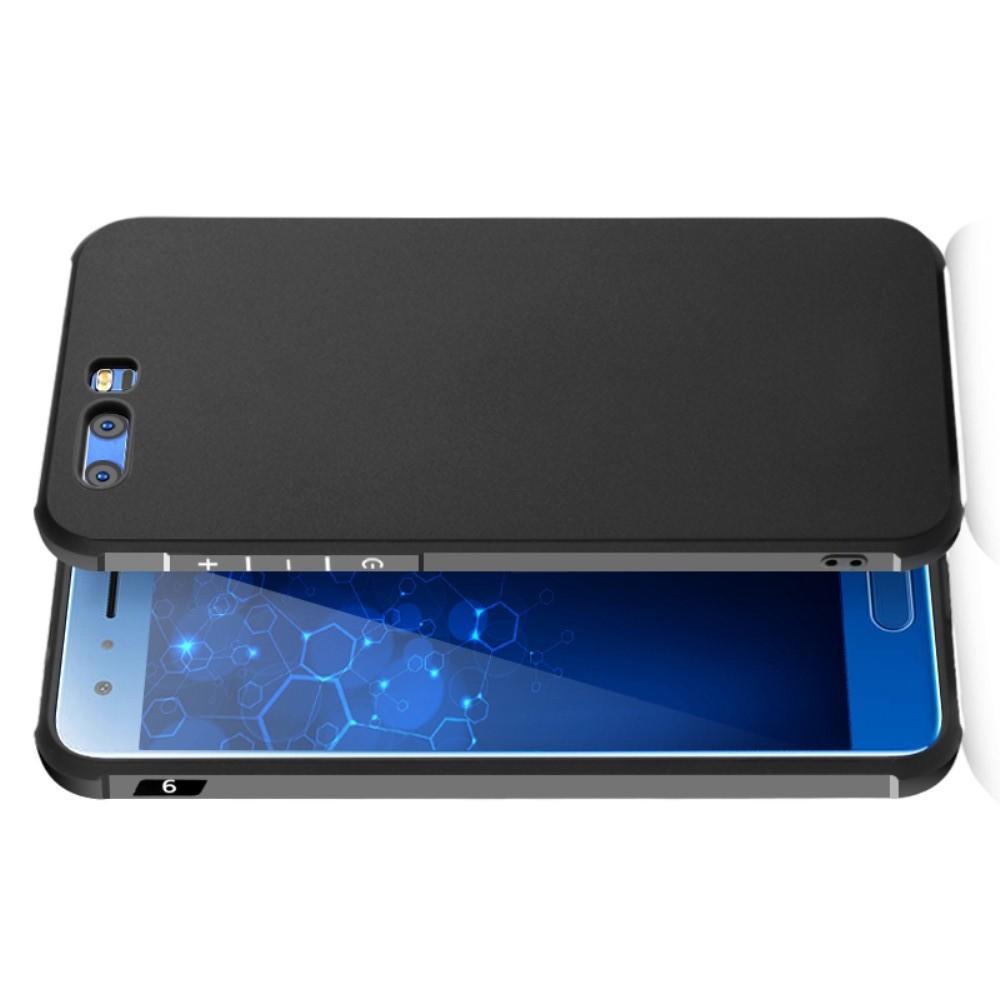 Extreme Усиленный Защитный Силиконовый Матовый Чехол для Huawei Honor 9 Черный