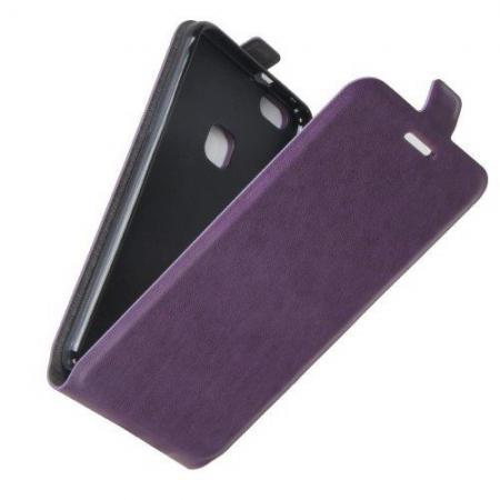 Вертикальный флип чехол книжка с откидыванием вниз для Huawei P10 Lite - Фиолетовый