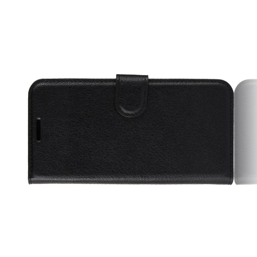 Флип чехол книжка с кошельком подставкой отделениями для карт и магнитной застежкой для Huawei Honor 8C Черный
