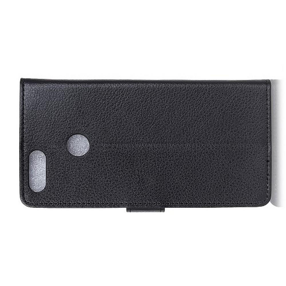 Флип чехол книжка с кошельком подставкой отделениями для карт и магнитной застежкой для Huawei Honor View 20 (V20) Черный