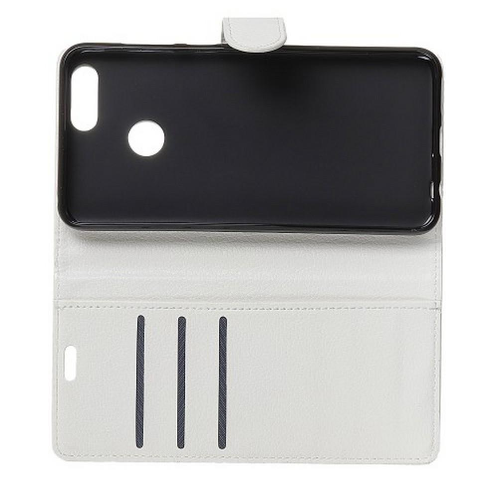 Флип чехол книжка с кошельком подставкой отделениями для карт и магнитной застежкой для Huawei Honor View 20 (V20) Белый