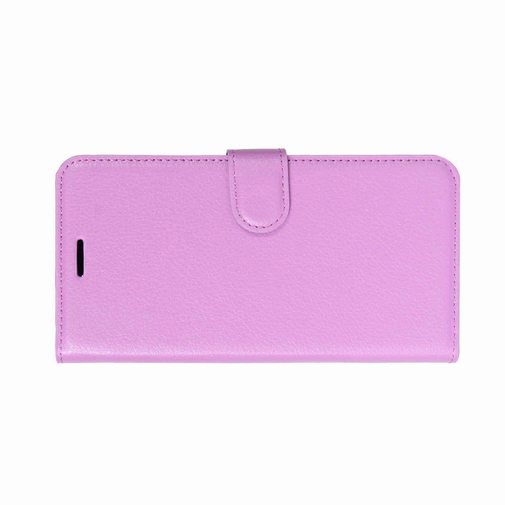 Флип чехол книжка с кошельком подставкой отделениями для карт и магнитной застежкой для Huawei P20 Pro Фиолетовый