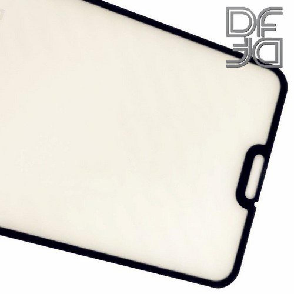 Полноклеевое Full Glue Cover DF Черное Защитное Стекло на Экран Huawei Honor 8X