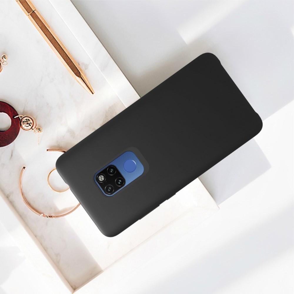 Мягкий матовый силиконовый бампер NILLKIN Flex чехол для Huawei Mate 20 Черный