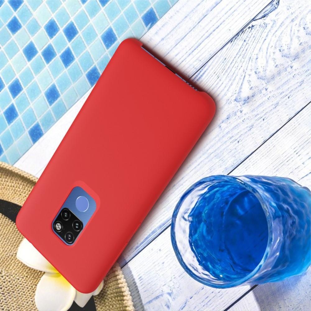Мягкий матовый силиконовый бампер NILLKIN Flex чехол для Huawei Mate 20 Красный