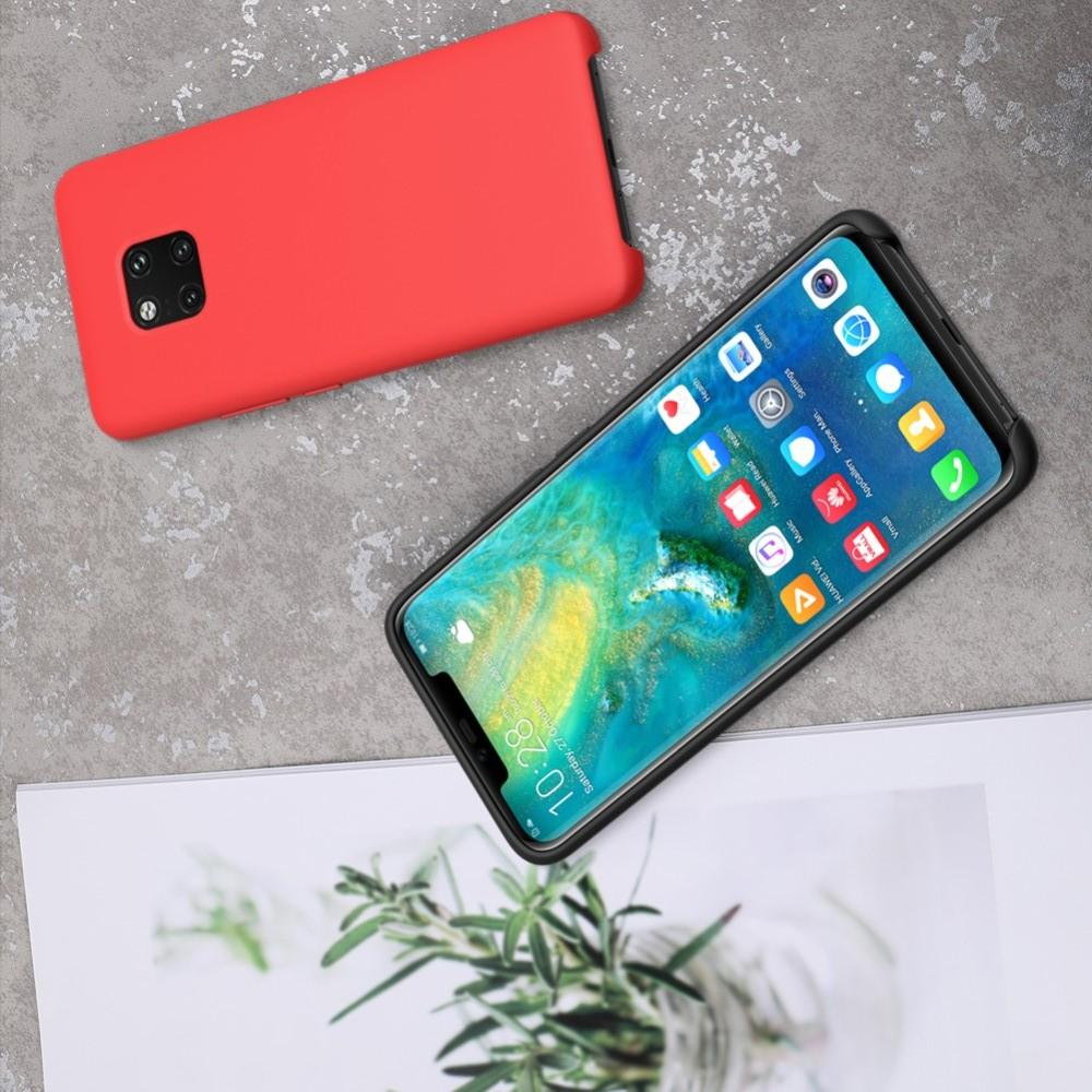Мягкий матовый силиконовый бампер NILLKIN Flex чехол для Huawei Mate 20 Pro Красный