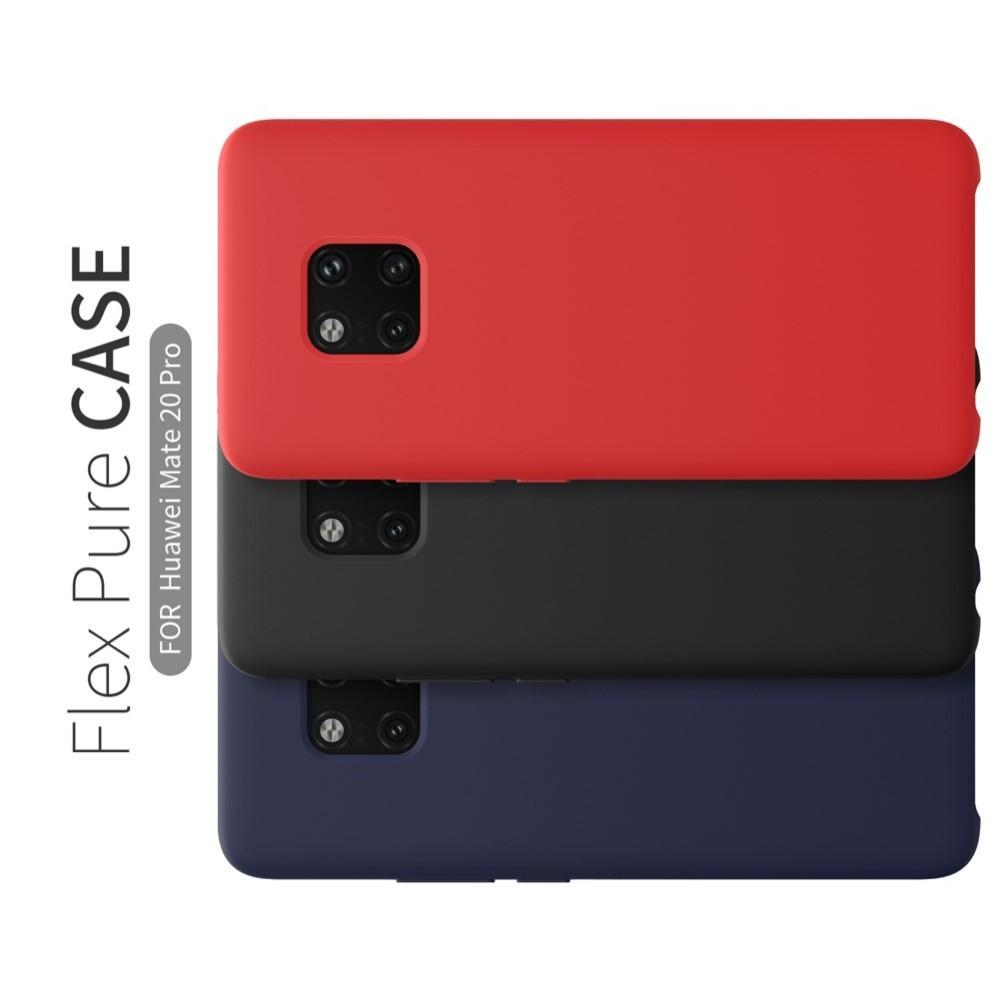 Мягкий матовый силиконовый бампер NILLKIN Flex чехол для Huawei Mate 20 Pro Синий
