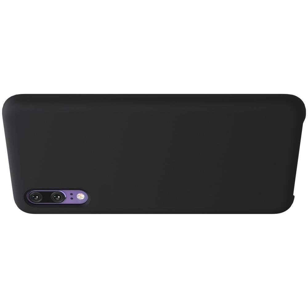 Мягкий матовый силиконовый бампер NILLKIN Flex чехол для Huawei P20 Черный