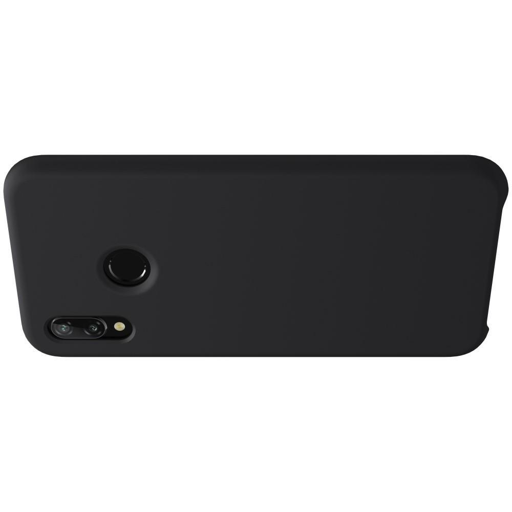 Мягкий матовый силиконовый бампер NILLKIN Flex чехол для Huawei P20 lite Черный