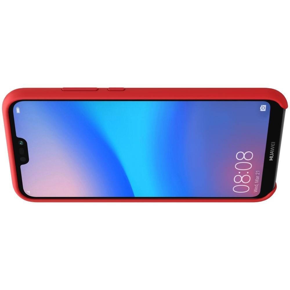 Мягкий матовый силиконовый бампер NILLKIN Flex чехол для Huawei P20 lite Красный