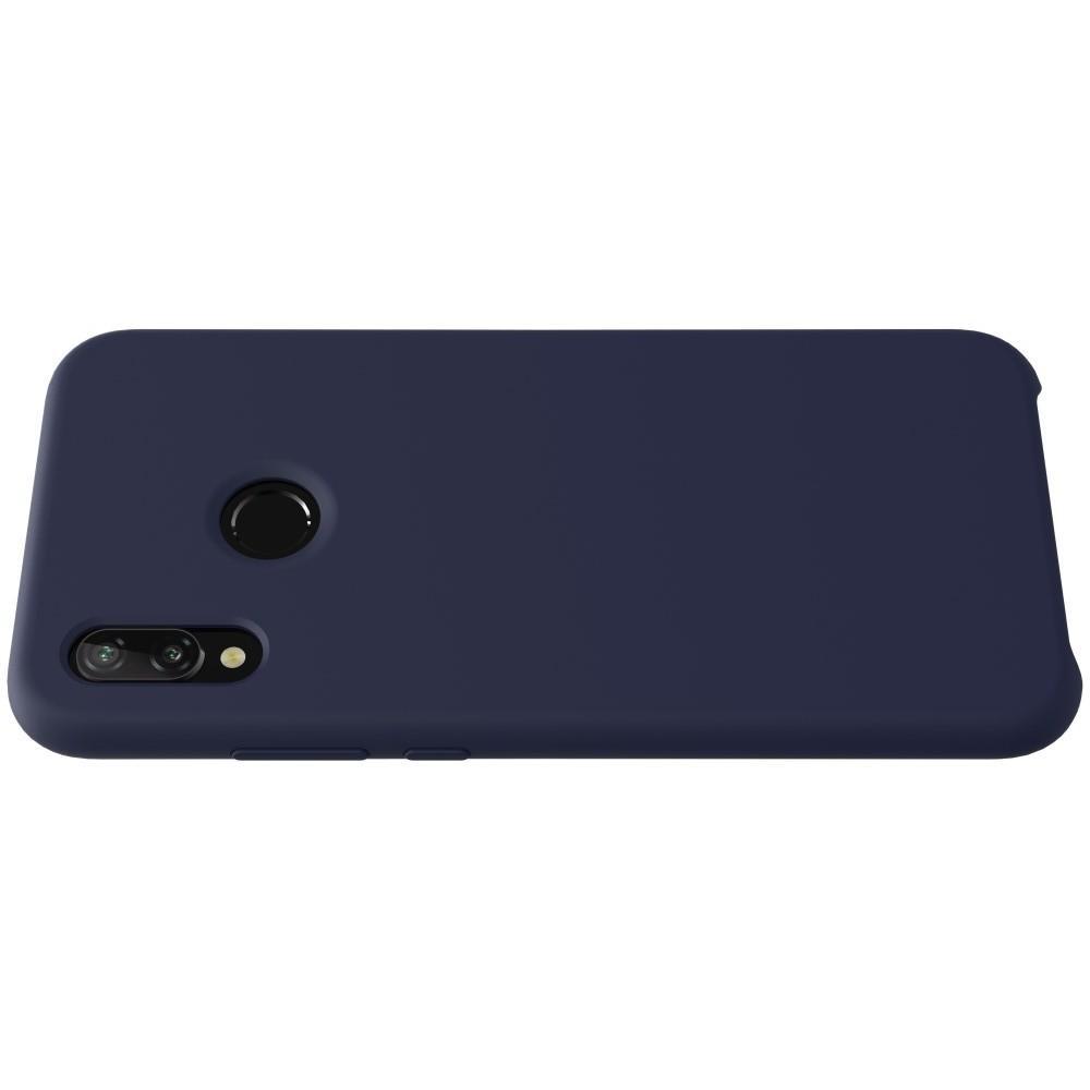 Мягкий матовый силиконовый бампер NILLKIN Flex чехол для Huawei P20 lite Синий