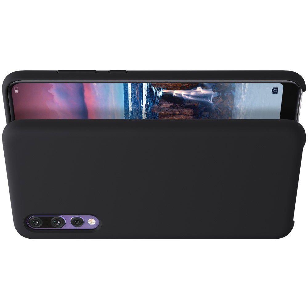 Мягкий матовый силиконовый бампер NILLKIN Flex чехол для Huawei P20 Pro Черный