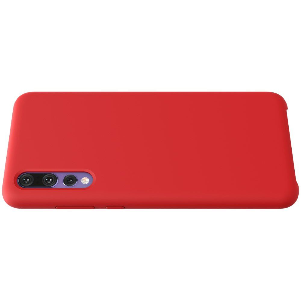 Мягкий матовый силиконовый бампер NILLKIN Flex чехол для Huawei P20 Pro Красный