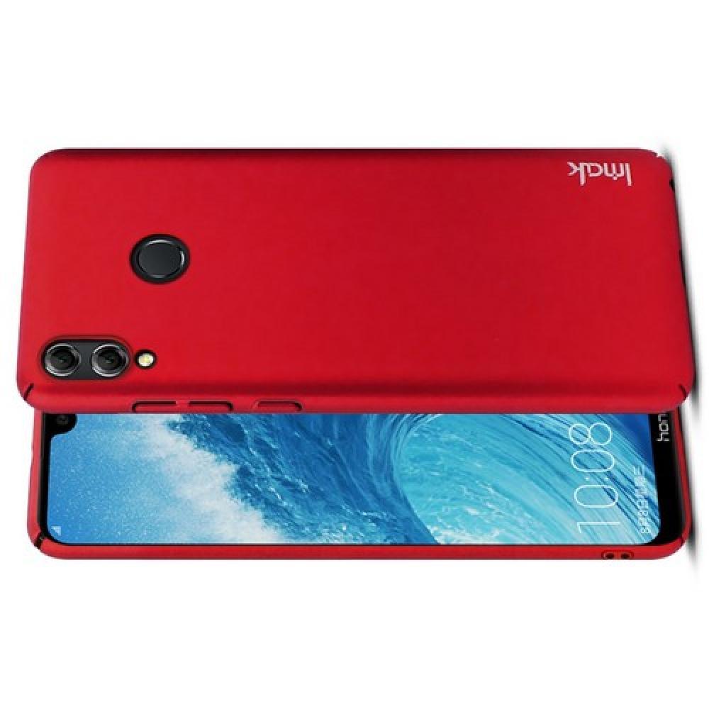 Пластиковый матовый кейс футляр IMAK Jazz чехол для Huawei Honor 8X Красный + Защитная пленка