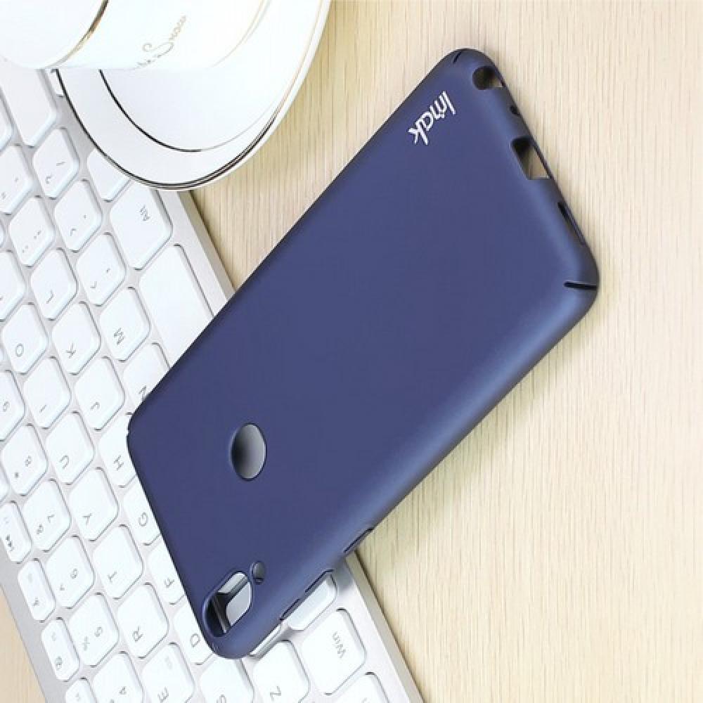 Пластиковый матовый кейс футляр IMAK Jazz чехол для Huawei Honor 8X Синий + Защитная пленка